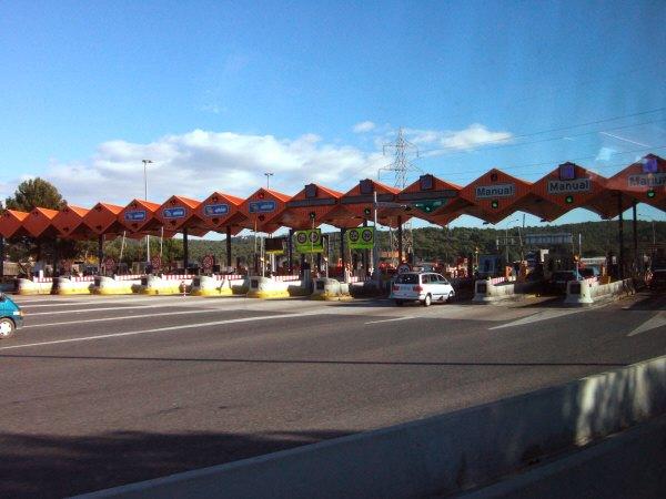 エスパーニャSPAINバレンシア地方バレンシア州都ホテルホリデイインバレンシア高速道路E15料金所