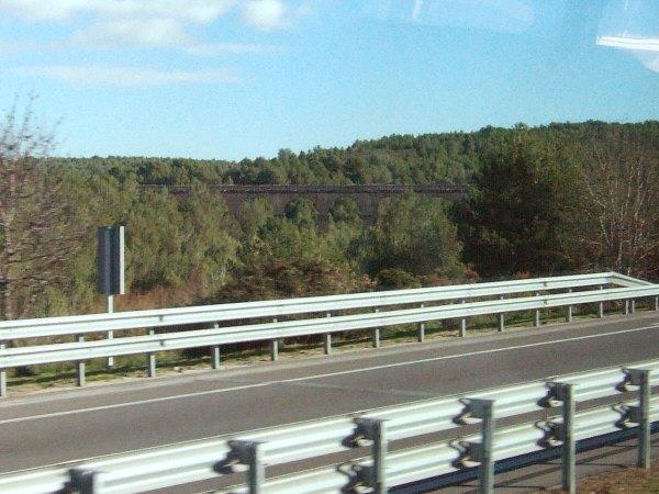 エスパーニャSPAINカタルーニャ地方・バルセロナ高速道路E15Tarragonaタラゴナのローマ時代の水道橋?
