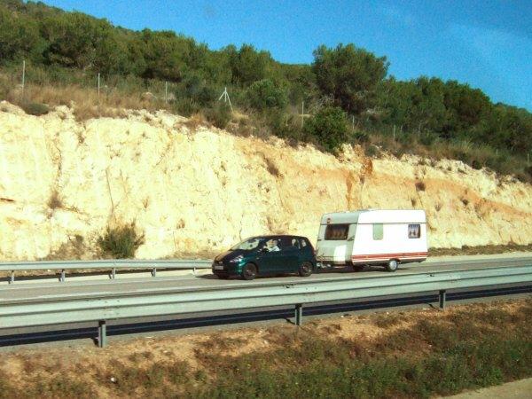 エスパーニャSPAINカタルーニャ地方・バルセロナ高速道路E15ホンダ フィット HONDA Fit