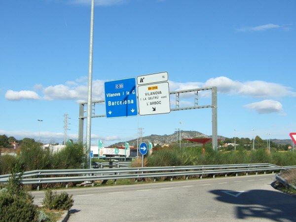エスパーニャSPAINカタルーニャ地方・バルセロナ高速道路E15A16サービスエリアSA