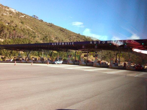 エスパーニャSPAINカタルーニャ地方・バルセロナ高速道路A16号線料金所