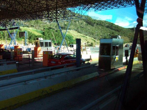 エスパーニャSPAINカタルーニャ地方・バルセロナ高速道路A16料金所