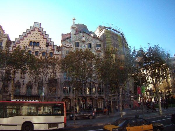 エスパーニャSPAINカタルーニャ地方・バルセロナ市街地の風景Casa Amatller,Casa Batllo