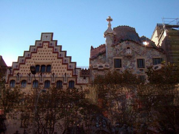 エスパーニャSPAINカタルーニャ地方・バルセロナ市街地の風景カサ・パトリョCasa Amatller,Casa Batllo