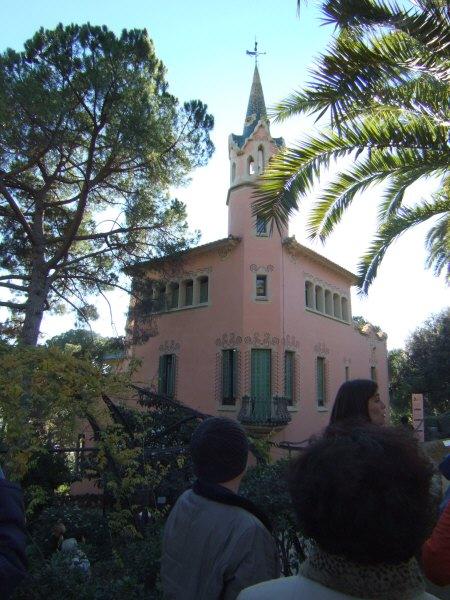 エスパーニャSPAINカタルーニャ地方・バルセロナ市街地の風景世界遺産世界文化遺産Parc Guell グエル公園アントニオ・ガウディ