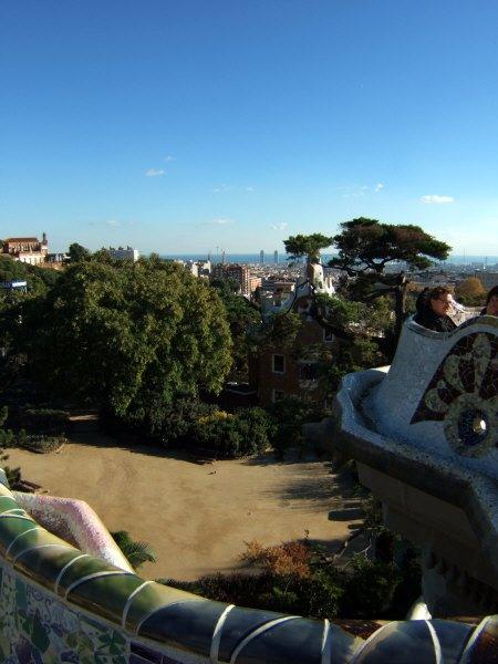 エスパーニャSPAINカタルーニャ地方・バルセロナ市街地の風景世界遺産世界文化遺産Parc Guell グエル公園