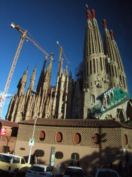 エスパーニャSPAINカタルーニャ地方・バルセロナ市街地の風景サグラダ・ファミリア(聖家族教会)サクラダファミリア
