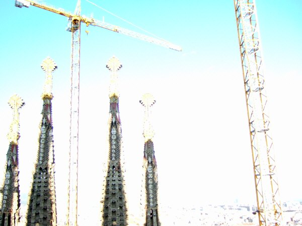 エスパーニャSPAINカタルーニャ地方・バルセロナ市街地の風景サグラダ・ファミリア(聖家族教会)サクラダファミリアtemplo de la Sagrada Familiaアントニオ・ガウディ