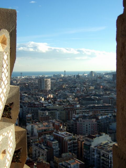 エスパーニャSPAINカタルーニャ地方・バルセロナ市街地の風景サグラダ・ファミリア(聖家族教会)サクラダファミリアtemplo de la Sagrada Familiaアントニ・ガウディ