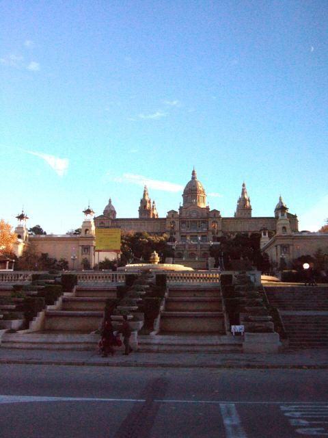 エスパーニャSPAINカタルーニャ地方・バルセロナ市街地の風景カタルーニャ美術館 MUSEU DART CATALUNYA