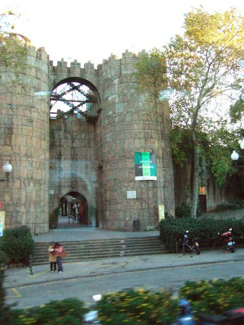 エスパーニャSPAINカタルーニャ地方・バルセロナ市街地の風景スペイン村