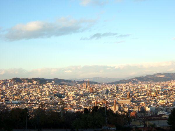 エスパーニャSPAINカタルーニャ地方・バルセロナモンジュイックの丘見晴台展望台