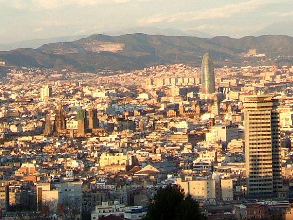 エスパーニャSPAINカタルーニャ地方・バルセロナモンジュイックの丘展望台