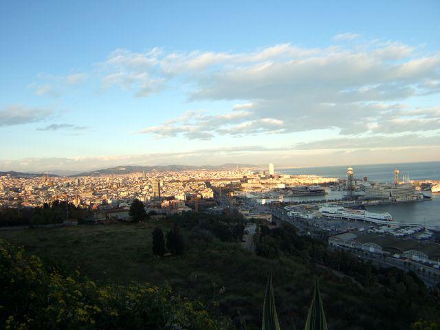 エスパーニャSPAINカタルーニャ地方・バルセロナモンジュイックの丘展望台バルセロナ港