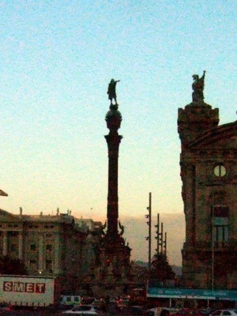 エスパーニャSPAINカタルーニャ地方・バルセロナコロンブスの塔Monument aColon