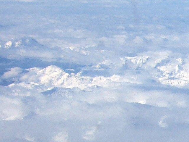 SPANAIR EC-IMB エアバスAIRBUS A320-200スイスアルプスの山々ヨーロッパアルプス