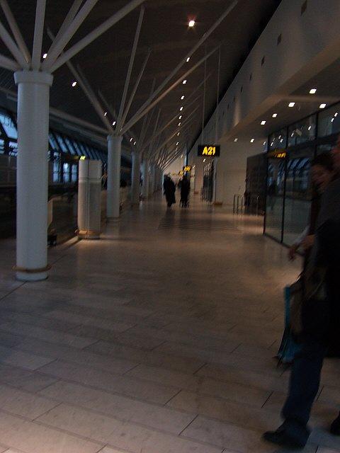 コペンハーゲン国際空港ターミナル2AフィンガーA21ゲート