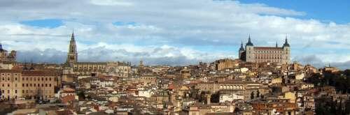 世界文化遺産世界遺産トレド旧市街トレドの町並み街並み