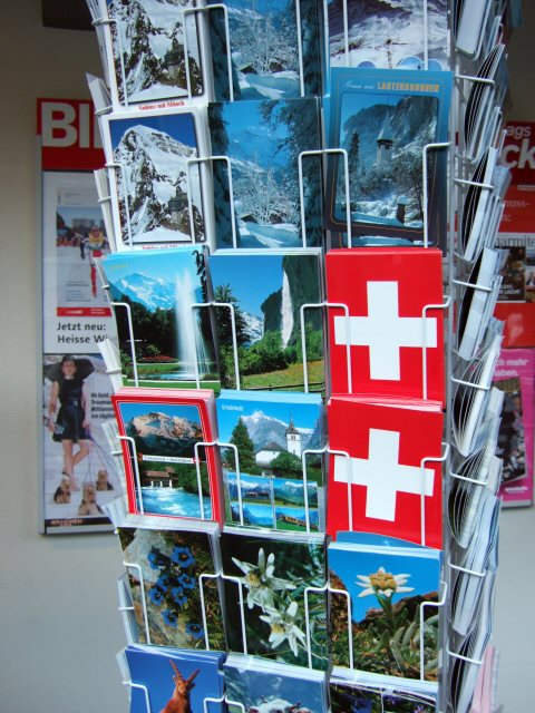 スイス・ユングフラウヨッホ観光ラウターブルネンLauterbrunnenBOB登山鉄道WAB登山鉄道絵葉書