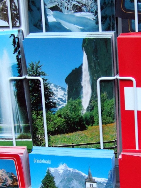 スイス・ユングフラウヨッホ観光ラウターブルネンLauterbrunnenBOB登山鉄道WAB登山鉄道シュタウプバッハの滝シュタウプバッハ滝シュタウバッハの滝