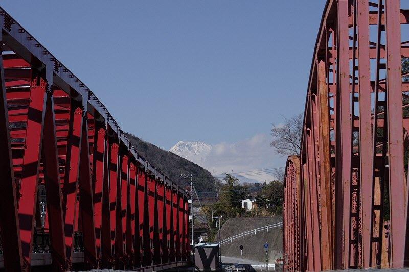 鉄橋と富士山
