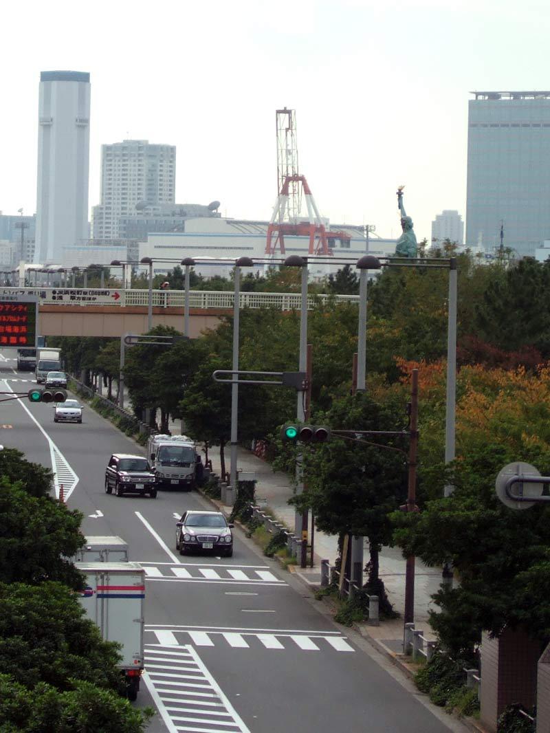 JAL機体整備工場見学東京お台場の自由の女神像お台場の女神借りていた来日実物銅像高さ由来