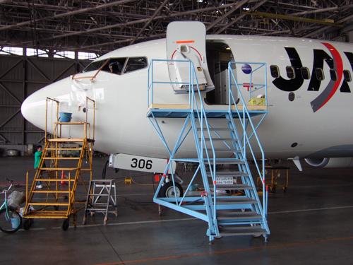 JAL機体整備工場見学ハンガー見学