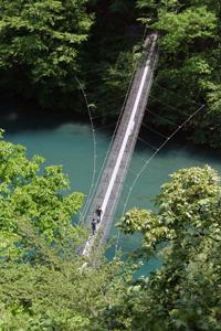大井川鉄道で行く寸又峡温泉の旅虹の吊り橋