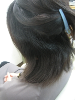 西大寺 縮毛矯正女子