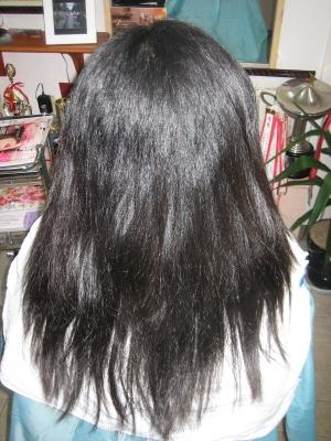 縮毛矯正のビフォー画像