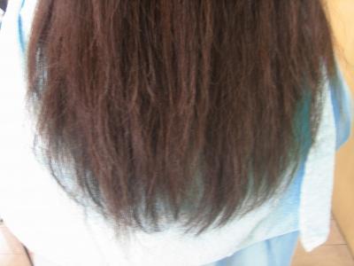 縮毛矯正+白髪染め