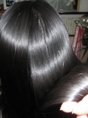 綺麗な艶 モデル髪ストレートコース艶バージョン