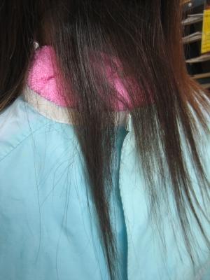 髪の内側の切れ毛