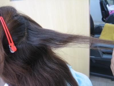 髪を減らしすぎる ペラペラ