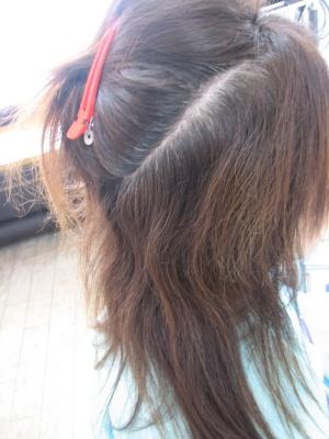 髪の多い 髪を減らす ボリュームダウン