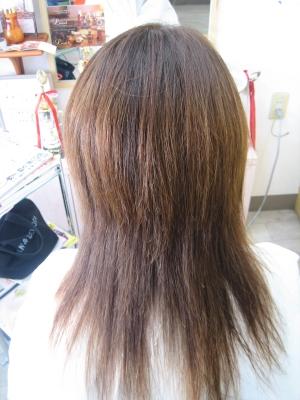 髪を減らしすぎた縮毛矯正