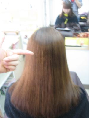 ビビリ毛 根元がポキッと折れた髪 縮毛矯正の失敗