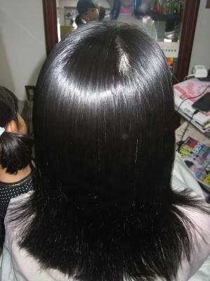 2回目の縮毛矯正 奈良市 学園前 登美が丘 縮毛矯正専門店