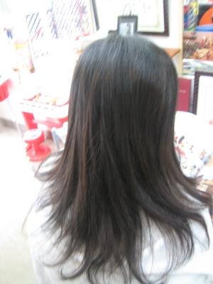 学園前 美容室 奈良市 あやめ池 ストレートパーマ