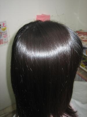 きれいな髪 黒髪 縮毛矯正 奈良市