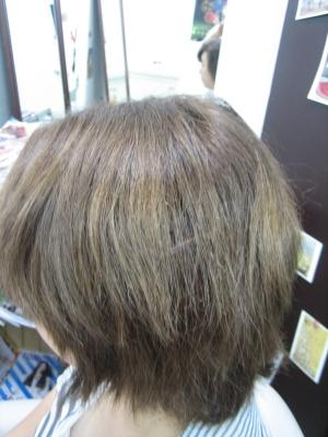 失敗された髪の修復