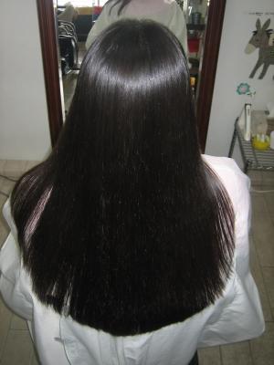 細い髪 ストレートパーマ 自然な