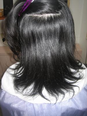 髪を減らされすぎた 縮毛矯正 ヘアカット 奈良