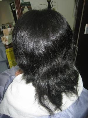 髪の減らしすぎ 髪の切りすぎ すきばさみ