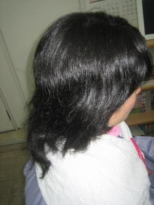 髪の量を減らす為に失敗