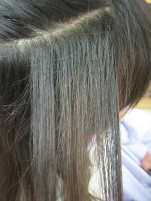 痛みすぎた髪 チリチリ ジリジリ