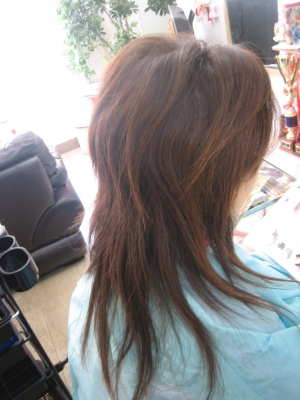 減らされすぎた髪 髪を梳く 美容室