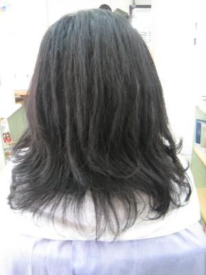 減らされすぎた髪 縮毛矯正 奈良