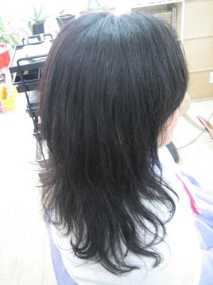 失敗された髪 ジリジリ 縮毛矯正 学園前