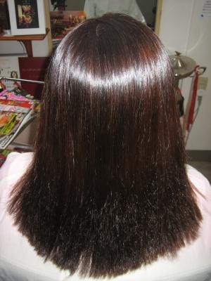 50代 縮毛矯正 ヘアカラー